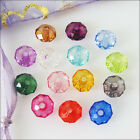 50Pcs Mixed Clear Acrylic Plastic DIY Round Flat Facted Spacer Beads Charms 10mm