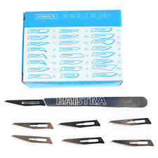 Stainless steel Surgical SCALPEL HANDLE +100 Pcs Scalpel BLADES Knife Blade 11#