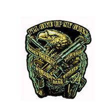 Biker Chopper Code Eagle Adler Gewehr Shotgun Waffen Aufbügler Aufnäher Patch