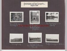 (F8003+) Seite aus Fotoalbum m. Orig. Fotos, Frankentour, Veitshöchheim - Würzbu