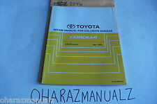 2002 TOYOTA Corolla ZZE130 Series Repair Manual for Collission Damage