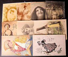 Donnine e Innamorati - Lotto da 10  cartoline - 5 viaggiate