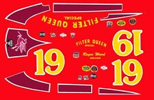 #19 Roger Ward Filter Queen Indy 1956 1/43rd Scale Slot Car Decals