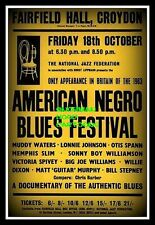 "AMERICAN FOLK BLUES FESTIVAL 1963 - Flexible Fridge Magnet Approx 5"" x 4"""