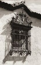 1922 Vintage SPAIN Andujár Window Iron Grille Architecture Photo Art ~ HIELSCHER