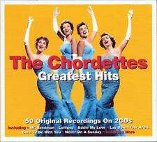 THE CHORDETTES - GREATEST HITS - 50 ORIGINAL RECORDINGS (NEW SEALED 2CD)