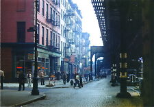 1940s Bowery North to Hester St LES Little Italy + Jews NYC New York City Photo