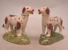 Staffordshire Pottery Figure - Pair of Spotted Standing Dogs