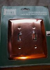Polished COPPER Plated DOUBLE Toggle Switch Wall Plate Cover NORTHWEST HOME NIP
