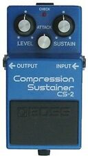 BOSS CS-2 COMPRESSION SUSTAINER COMPRESSOR MADE IN JAPAN BLACK LABEL 1983