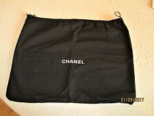 """Chanel""  original black cloth drawstring large handbag storage sack"
