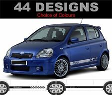toyota Yaris side stripe decals sticker fit toyota yaris choice of design