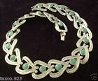 TAXCO MEXICAN STERLING SILVER TURQUOISE DECO NECKLACE MEXICO