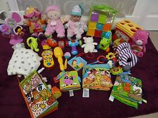 Large Bundle Of Baby Soft Books & Toys Lamaze, FisherPrice, Vtech, Little Tikes
