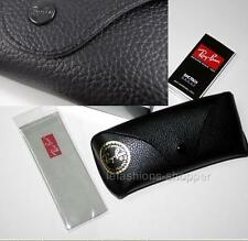 "Ray Ban Black Sunglasses Case & Cloth 6.25"" x 2.50"" x 1"" New Hard Front Case"