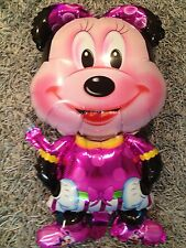 3x MINNIE MOUSE foil balloons, LARGE 89cm HIGH, Disney, MICKEY is also available