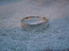 NEW PURE SILVER .999 BULLION SZ71/2 WOMAN RING BY ANARCHY P.M. JEWELRY #J97