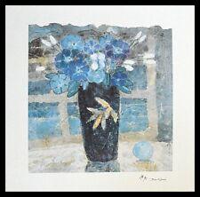 John Chen Blumenstillleben Poster Bild Kunstdruck im Alu Rahmen schwarz 40x40cm