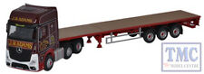 76MB003 Oxford Diecast OO Gauge Mercedes Actros GSC Flatbed Trailer J R Adams