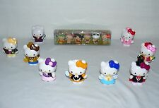 LOT SET OF SANRIO HELLO KITTY PEN FIGURINES AS IS AND SPORTS HELLO
