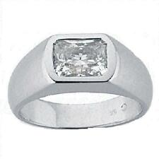1 carat Radiant Cut Diamond Engagement Wedding MENS 14K Gold Ring SI1 clarity