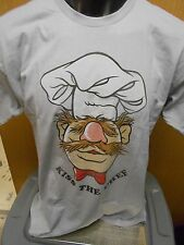 Mens Licensed The Muppets Sweedish Chef Kiss The Chef Shirt New L