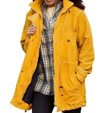 Yellow Mustard Women's Jacket Lined Lining Removable Hooded Hoodie Size 1x