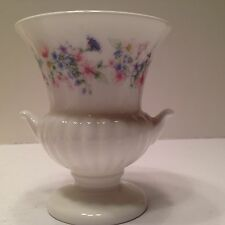 "Miniature Wedgewood porcelain vase 3.5"" x 3"" English white England"