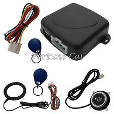 Stock In USA RFID Car Alarm With Push Button Start Stop Engine 2 Transponders