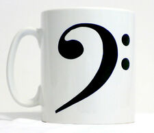 Bass Clef Mug Can Be Personalised Great Music Rock Pop Musician Bassist Gift