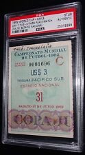 1962 WORLD CUP CHILE VS YUGOSLAVIA 3RD PLACE WIN MATCH NO. # 31 TICKET PSA RARE