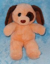 "Fordlet Int'l Ltd Plush Puppy Dog Peach Brown Ears Eye Spot 1989 10"" Stuffed Toy"