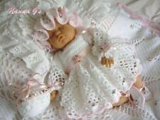 """Rosebuds & Ribbons"" 4 Piece Set for Baby 0-4mth. (Crochet Instructions.) #2"