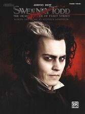 Sweeney Todd Johnny Depp The Movie Learn to Play Piano PVG Music Book