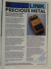 retro magazine advert 1988 BOSS TURBO DISTORTION DS2