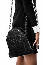 KillStar Sara Sins RIP Handbag Purse NEW Black Goth Cemetery Tombstone Vegan