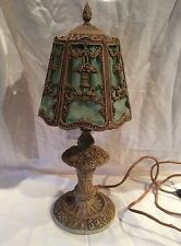 ANTIQUE BARBOLA ROSE BOUDOIR LAMP ORIG SHADE AND PAINT EXC COND BEAUTIFUL PIECE!