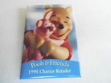 VINTAGE PROMO PINBACK BUTTON #90-196 - DISNEY - POOH AND FRIENDS 1998