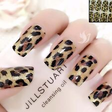 Sparkly LEOPARD  Nail Art Wrap Full Cover Stickers  #06165 FREE P&P