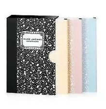 Marc Jacobs Mini Composition Notebook Set: Yellow, Blue & Pink, Comes in Case