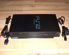 Playstation 2 PS2 Console System Fat Black Original W/ Cords Sony Fully Tested