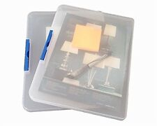 2 Pack Clear Plastic Document Cases File Holders, desk paper organizers, #6FM