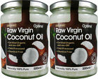 2 Organic Raw Virgin Coconut Oil - 2 Jars = 1000 ml - Optima