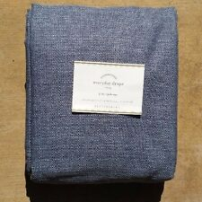 "POTTERY BARN ~EVERYDAY DRAPE ~ 50"" wide X 108"" ~ INK BLUE ~ LAST ONE"