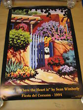 """Sean Wimberly Signed """" Home is Where the Heart is"""" 19.25x28.5 Poster  New Mexico"""