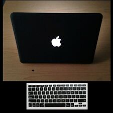 "2 in 1 Black Rubberized Case Cover for MacBook Pro 13"" RETINA+Keyboard Skin"