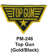 """3"""" TOP GUN (GOLD/WHITE) Embroidered Military Patch"""