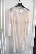 Women dress/ Pink transparent/ Size Medium/ 44 inches long/Beach