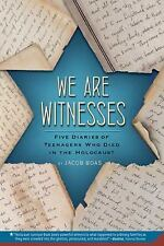 We Are Witnesses : Five Diaries of Teenagers Who Died in the Holocaust by...