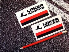 LAKER AIRWAYS STICKERS DECALS AVIATION AIRLINER  TRAVEL TRISTAR DC10 11cm flying